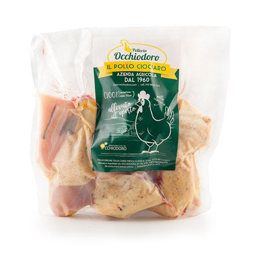 Pollo intero a pezzi - Occhiodoro il pollo Ciociaro - Sgurgola Frosinone - Produttori ciociari - Pipolà