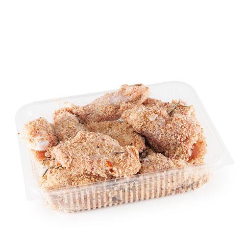 Alette di pollo ai profumi ciociari - Occhiodoro Sgurgola - carne da allevamenti non intensivi - Carne genuina - spesa a domicilio - prodotti tipici ciociari - Pipolà