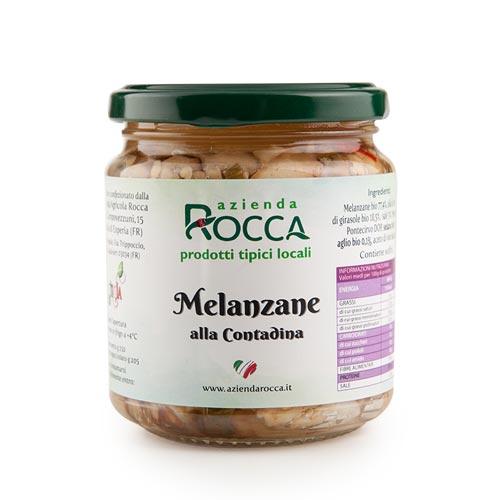 Melanzane alla contadina - Azienda Rocca -Prodotti tipici ciociari online - Spesa genuina di qualità online Frosinone, Latina, Roma - Shop agricolo online Roma pipolà