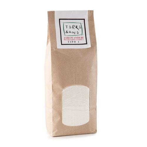 Mix di farine e semola 4 grani antichi Terre Sane - prodotti tipici ciociari - Pipolà