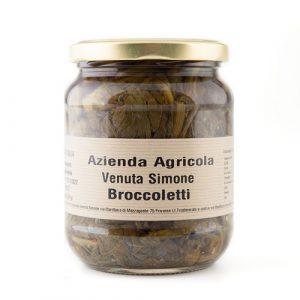 Broccoletti sottolio . Venuta Simone - prodotti tipici ciociari Priverno . Pipolà