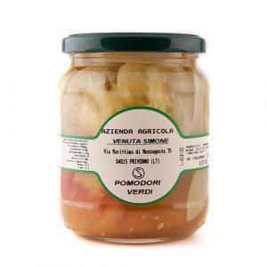Pomodori verdi sottolio Venuta SImone prodotti agricoli tipici ciociari Pipolà