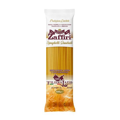 Spaghetti quadrati di semola di grano duro Zaffiri Sora Frosinone - prodotti tipici online - Pipolà
