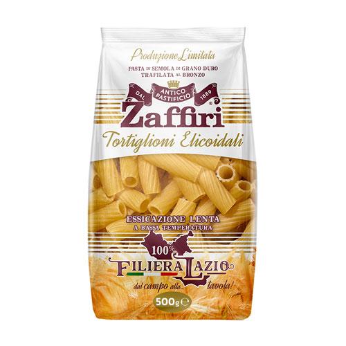 Tortiglioni elicoidali di semola di grano duro Zaffiri Sora Frosinone - prodotti tipici online - Pipolà